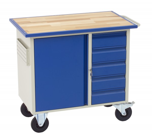 Dinzl Werkstattwagen m 5 Schubladen + Schrankfach