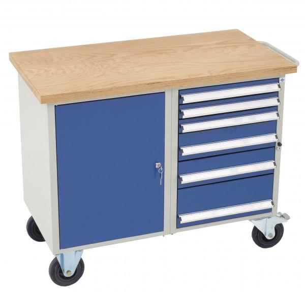 Dinzl Werkstattwagen mit 6 Schubladen + Schrankfach