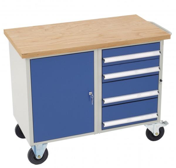 Dinzl Werkstattwagen mit 4 Schubladen + Schrankfach