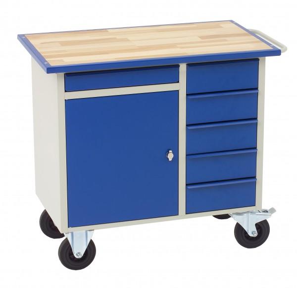 Werkstattwagen mit 6 Schubladen + Schrankfach